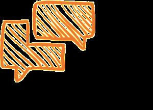 Linquos - Coaching - language connects - Schwarz-Orange - QUAD