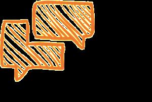 Linquos - Mediation - language connects - Schwarz-Orange - QUAD