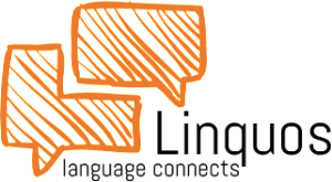 Linquos - language connects - Schwarz-Orange